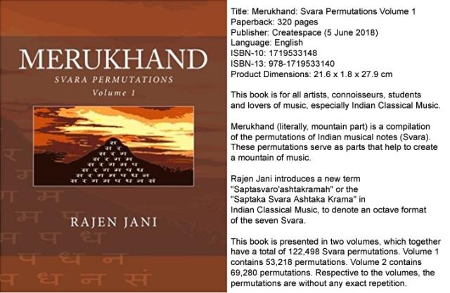 Merukhand: Svara Permutations Volume 1 by Rajen Jani