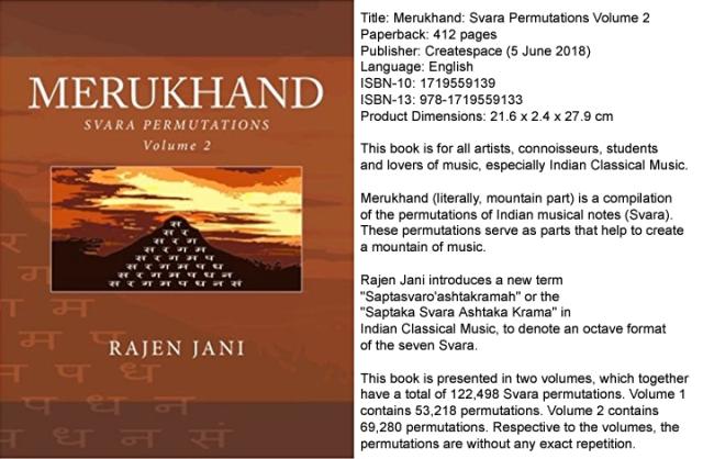 Merukhand: Svara Permutations Volume 2 by Rajen Jani