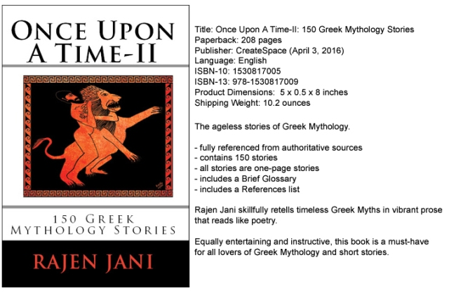Once Upon A Time-II : 150 Greek Mythology Stories by Rajen Jani