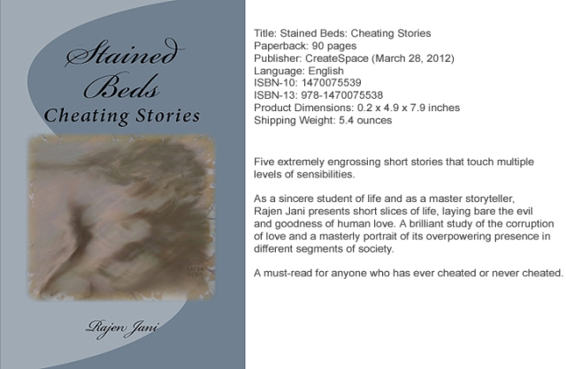 Stained Beds: Cheating Stories by Rajen Jani
