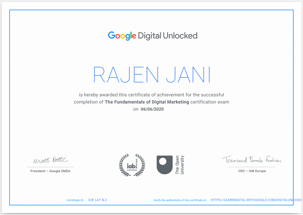 RajenJani_GoogleCertificate